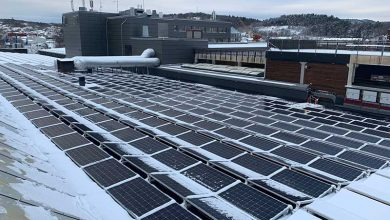 Photo of Heating solar panels to clear snow
